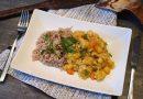 Csicseriborsós csirke curry egzotikus rizzsel